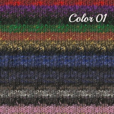 Noro Hanabatake Yarn Black Pink Red Purple 01 - 1