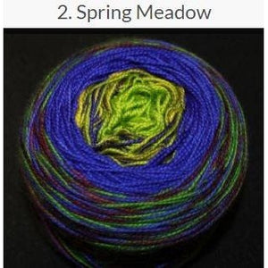 Done Roving Frolicking Feet Transitions Yarn-Yarn-Spring Meadow 2-