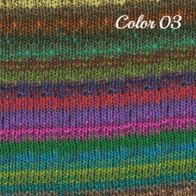 Noro Hanabatake Yarn Greens Red Blue Brown 03 - 2