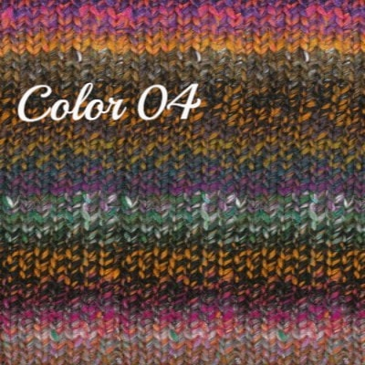 Noro Ginga Yarn Oranges Purples Green 04 - 5