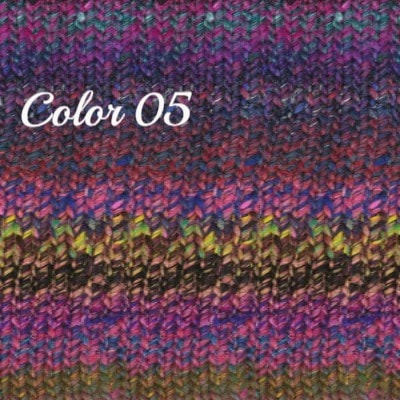 Noro Ginga Yarn Fuchsia Purple Blue 05 - 6