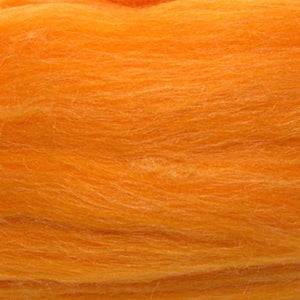 Artfelt In Silk Solid Colored Merino/Silk Standard Rovings-Fiber-0691 Tangerine-