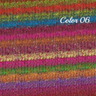 Noro Hanabatake Yarn Brown Wine Pink Green 06 - 4