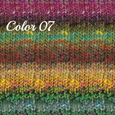 Noro Ginga Yarn Greens Reds Yellow 07 - 3