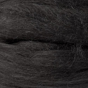 Artfelt In Silk Solid Colored Merino/Silk Standard Rovings-Fiber-0880 Nearly Black-