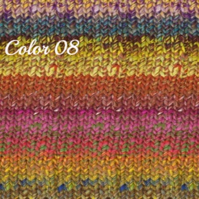 Noro Ginga Yarn Yellows Pinks Brown 08 - 4
