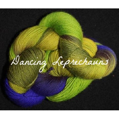 Paradise Fibers Yarn Done Roving Frolicking Feet Sock Yarn Dancing Leprechauns - 2