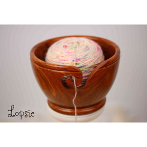 Paradise Fibers Artisan Wooden Yarn Bowls-Knitting Accessory-Lopsie-