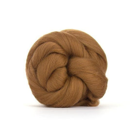 Paradise Fibers Solid Colored Merino Wool Top - Sienna