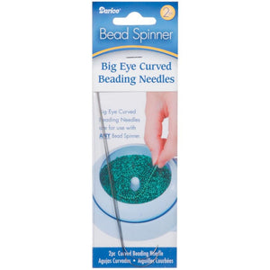 Bead Spinner Big Eye Curved Beading Needles