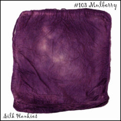 Frabjous Fibers Hand Dyed Silk Hankies Mulberry 103 - 5