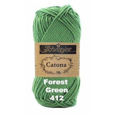Scheepjes Catona 50g Yarn Forest Green 412 - 82