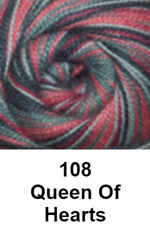 Cascade Forest Hills Yarn - Multis Queen of Hearts 108 - 9