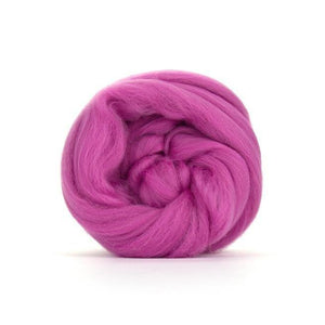 Paradise Fibers Solid Colored Merino Wool Top - Magenta