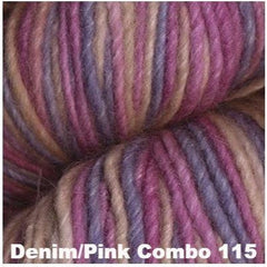 Juniper Moon Farm- Moonshine Trios Yarn Denim/Pink Combo 115 - 12