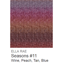 Ella Rae Seasons Yarn Wine/Peach/Tan/Blue #11 - 4