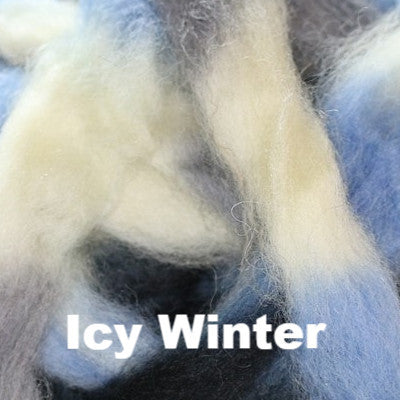 Louet Northern Lights Space Dyed Wool Tops (1/2 lb bags) Icy Winter - 15