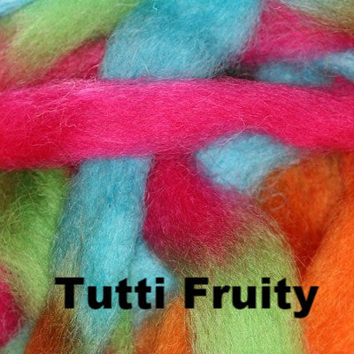 Louet Northern Lights Space Dyed Wool Tops (1/2 lb bags) Tutti Fruity - 8