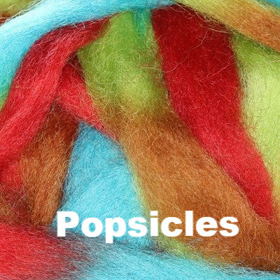 Louet Northern Lights Space Dyed Wool Tops (1/2 lb bags) Popsicles - 16