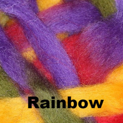 Louet Northern Lights Space Dyed Wool Tops (1/2 lb bags) Rainbow - 9