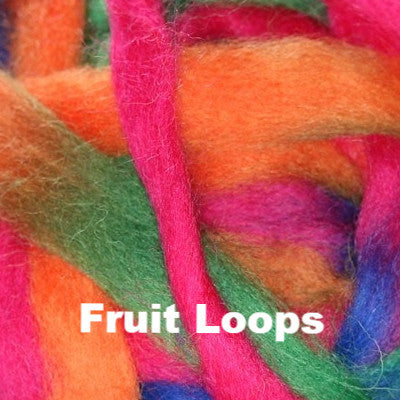 Louet Northern Lights Space Dyed Wool Tops (1/2 lb bags) Fruit Loops - 7