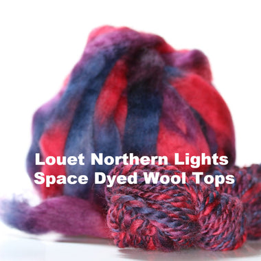 Louet Northern Lights Space Dyed Wool Tops (1/2 lb bags)  - 1