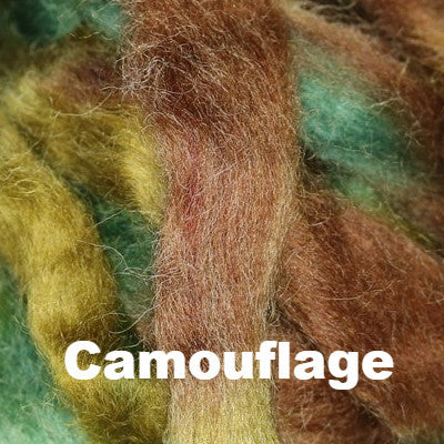 Louet Northern Lights Space Dyed Wool Tops (1/2 lb bags) Camouflage - 12
