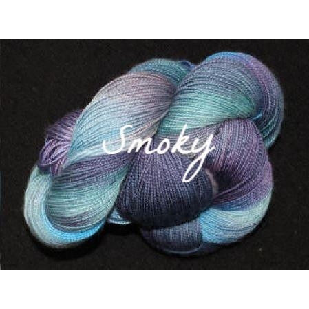 Paradise Fibers Yarn Done Roving Frolicking Feet Sock Yarn Smoky - 3