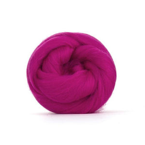Paradise Fibers Solid Colored Merino Wool Top - Raspberry-Fiber-4oz-