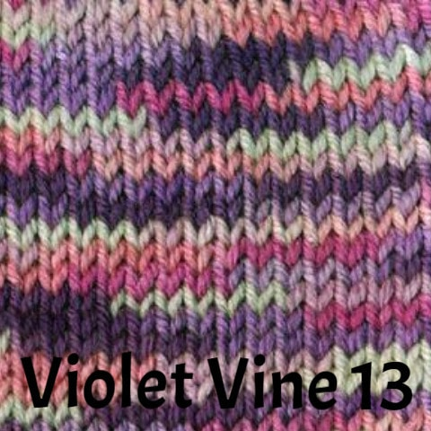 Ella Rae Cozy Soft Prints Yarn Violet Vine 13 - 17