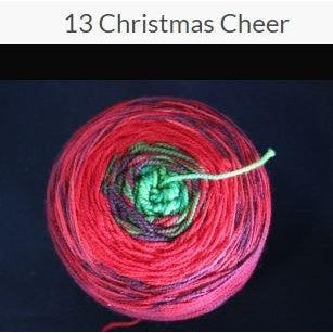 Done Roving Frolicking Feet Transitions Yarn Christmas Cheer 13 - 7