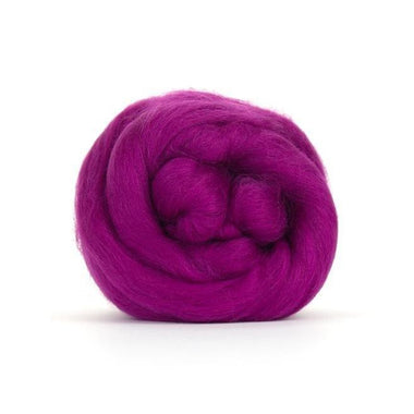 Paradise Fibers Solid Colored Merino Wool Top - Fuchsia
