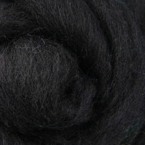 Solid Colored Corriedale Jumbo Yarn - Liquorice - 6.6lb (3kg) Special for Arm Knitted Blankets