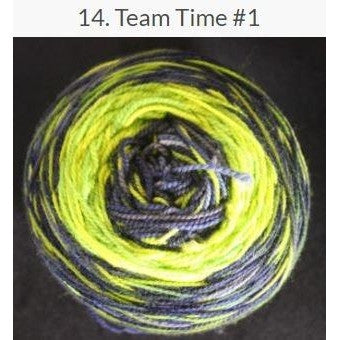 Done Roving Frolicking Feet Transitions Yarn Team Time #1 14 - 8