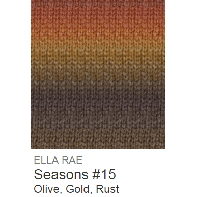 Ella Rae Seasons Yarn Olive/Gold/Rust #15 - 5