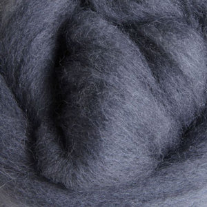 Solid Colored Corriedale Jumbo Yarn - Grey - 6.6lb (3kg) Special for Arm Knitted Blankets-Fiber-