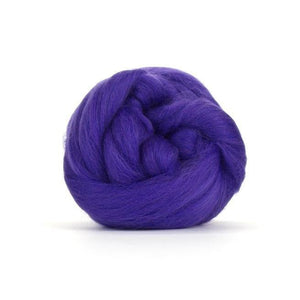 Paradise Fibers Solid Colored Merino Wool Top - Ultra Violet-Fiber-4oz-