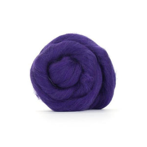 Paradise Fibers Solid Colored Merino Wool Top - Amethyst-Fiber-4oz-