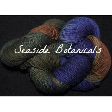 Paradise Fibers Yarn Done Roving Frolicking Feet Sock Yarn Seaside Botanicals - 5