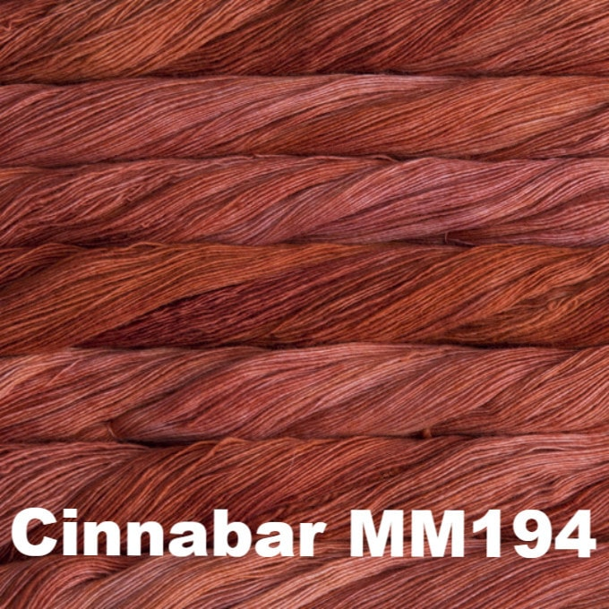 Malabrigo Worsted Yarn Semi-Solids Cinnabar MM194 - 16