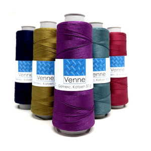 Venne 20/2 Mercerized Cotton - 50g - 929yds-Weaving Cones-Paradise Fibers