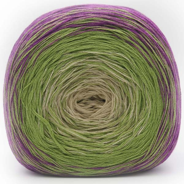 Trendsetter Yarns- Transitions Shawl Kit 1 Purple/Avocado/Cream - 4