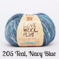 Katia Love Wool Plus Yarn 205 Teal, Navy Blue - 7