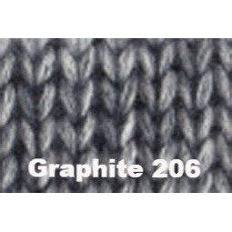 Katia Cotton Merino Plus Yarn Graphite 206 - 1
