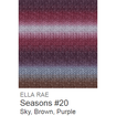 Ella Rae Seasons Yarn Sky/Brown/Purple #20 - 6