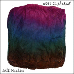 Frabjous Fibers Hand Dyed Silk Hankies Cathedral 214 - 24