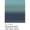 Ella Rae Seasons Yarn Teal/Navy/Green #22 - 7