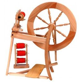 Paradise Fibers Spinning Wheel Ashford Traditional Spinning Wheel Double Drive Laquered - 1
