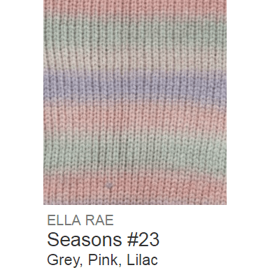 Ella Rae Seasons Yarn Grey/Pink/Lilac #23 - 8