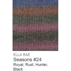 Ella Rae Seasons Yarn Royal/Rust/Hunter/Black #24 - 9